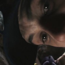 Primissimo piano di James Franco dal film 127 Hours