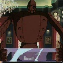 Un robot in una scena dell\'episodio I ladri amano la pace di Le nuove avventure di Lupin III