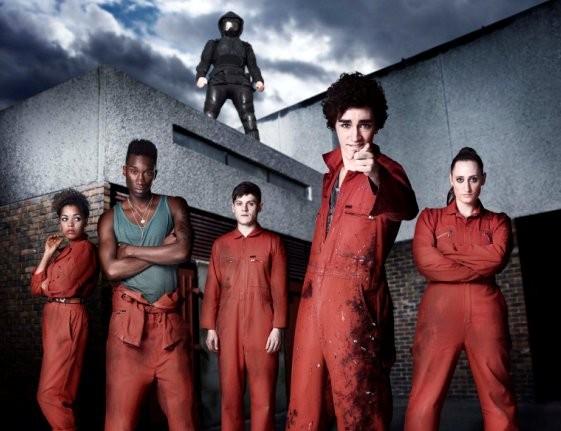 Una foto di gruppo dalla stagione 2 di Misfits