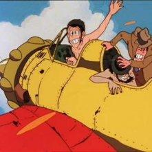 Una scena di Albatros, le ali della morte de Le nuove avventure di Lupin III diretto da H. Miyazaki