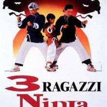 La locandina di 3 ragazzi ninja