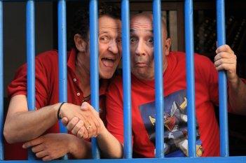 Enzo Salvi e Maurizio Battista, protagonisti di Una cella in due