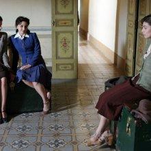 Federica De Cola, Anna Valle ed Alessandra Mastronardi nella fiction Atelier Fontana - Le sorelle della moda