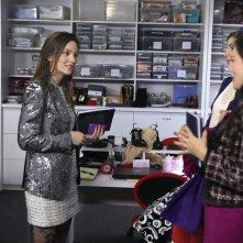 Leighton Meester e Melissa Fumero nell'episodio While You Weren't Sleeping di Gossip Girl
