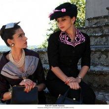 Federica De Cola ed Anna Valle nella fiction Atelier Fontana - Le sorelle della moda