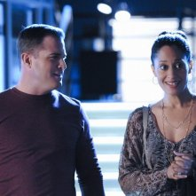 George Eads e Tracee Ellis Ross nell'episodio All That Cremains di CSI: Scena del crimine