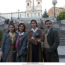 Il tre sorelle Fontana in una scena della fiction Atelier Fontana - Le sorelle della moda