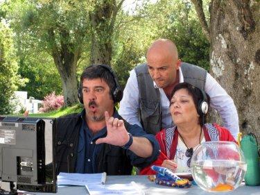 Francesco Pannofino con Itala (Roberta Fiorentini) in Boris il film
