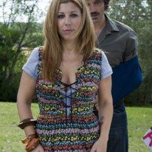 Michela Andreozzi e Guido Caprino in una scena della seconda stagione della serie Il commissario Manara