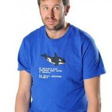 Chris O'Dowd è Roy in una foto promozionale della stagione 4 di IT Crowd