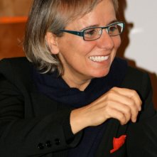 Emanuela Piovano sul set di Le stelle inquiete