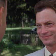 Gary Sinise in una scena del film Forrest Gump (1994)