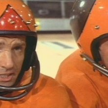 James Caan e John Beck in una scena del film Rollerball
