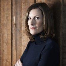 La regista Joanna Hogg sul set del film Archipelago