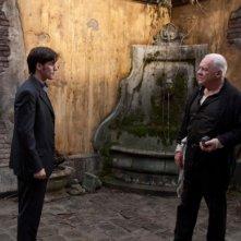 Anthony Hopkins e Colin O'Donoghue in una scena del film The Rite