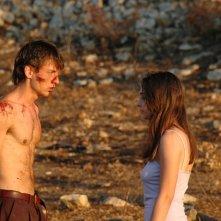 Damiano Russo sul set del cortometraggio Ice Scream assieme a Nicoletta Carbonara
