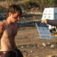Damiano Russo sul set del cortometraggio Ice Scream, premiato anche al California Film Award