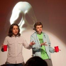 Kieran Culkin ed Erik Knudsen in una divertente scena di Scream 4