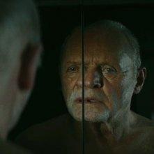 Una simbolica immagine di Anthony Hopkins dal film The Rite
