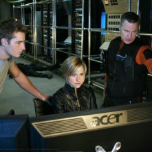 Oliver (Justin Hartley), Chloe (Allison Mack) e Rick Flagg (Ted Whittall) in Collateral di Smallville