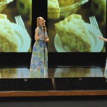Jayma Mays, Dianna Agron e Lea Michele nell'episodio Sexy di Glee