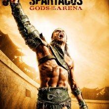 Un poster della serie Spartacus: Gods of the Arena