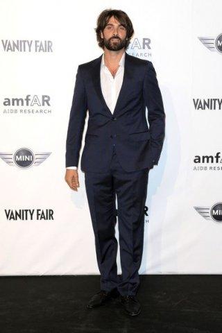 Luca Calvani al party amfAR tenutosi durante la fashion week milanese del 2010.