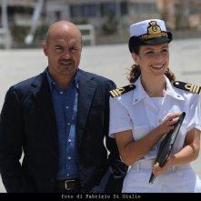 Luca Zingaretti ed Isabella Ragonese in una scena dell'episodio L'età del dubbio de Il commissario Montalbano