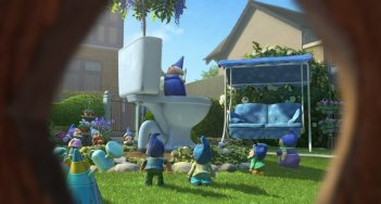 Una sequenza del film Gnomeo & Juliet