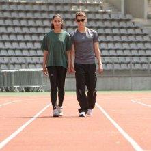 Rachida Brakni e Cyril Descours nel film La ligne droite