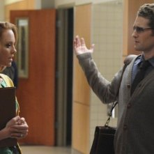 Matthew Morrison e Jayma Mays nell'episodio Blame It on the Alcohol di Glee