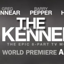 Poster con sviluppo orizzontale per la miniserie The Kennedys