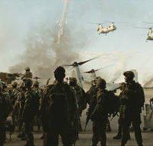 Una scena del film Battle: Los Angeles