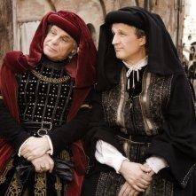 Michele Placido e Paolo Hendel nella commedia Amici miei - come tutto ebbe inizio