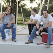 Taylor Kitsch, Scott Porter e Derek Phillips in una scena dell'espisodio finale di Friday Night Lights Always