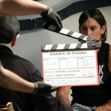Claudio Del Falco sul set del film RABBIA IN PUGNO.