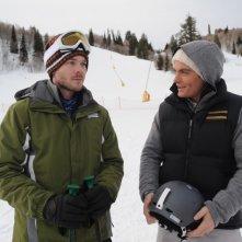 Shawn Ashmore e Kevin Zegers in una scena del film Frozen