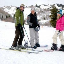 Shawn Ashmore, Kevin Zegers ed Emma Bell in una scena del film Frozen