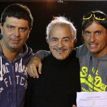 Stefano Calvagna, Sal Borgese e Claudio Del Falco sul set di RABBIA IN PUGNO