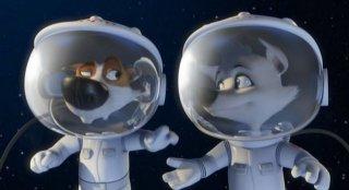Strelka e Belka in una scena di Space Dogs 3D