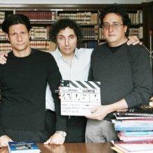 Valerio Aprea, Andrea Sartoretti e Luca Vendruscolo, sul set di Boris il film