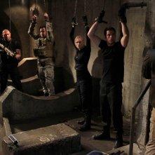 Eric Roberts, Joel Moore, Dave Batista, Zachary Levi e Yvonne Strahovski in Chuck Vs. The Couch Lock