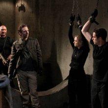 Joel Moore, Dave Batista, Zachary Levi e Yvonne Strahovski nell'episodio Chuck Vs. The Couch Lock