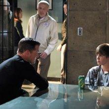 George Eads, Jude Ciccolella e Justin Bieber nell'episodio Targets of Obsession di CSI: Scena del crimine