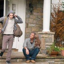 Anton Yelchin con Mel Gibson in Mr. Beaver
