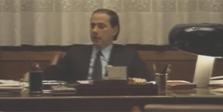Un giovane Silvio Berlusconi  in una scena del documentario Silvio Forever