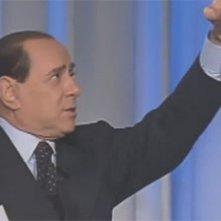 Un'immagine di archivio dal documentario Silvio Forever: Silvio Berlusconi a Porta a porta