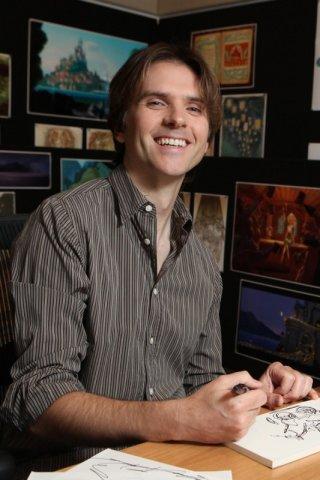 Byron Howard al lavoro sul film Disney Rapunzel