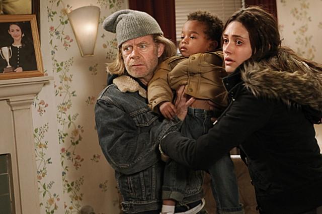 Emmy Rossum e William H. Macy nell'episodio Aunt Ginger della serie Shameless