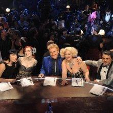 La giuria di Lady Burlesque: Rossy de Palma,Eve La Plume, Dario Salvatori, Dirty Martini, Alessandro Casella